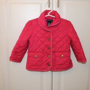 Ralph Lauren 18MPink Jacket Snap Up Quilted